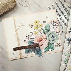 Like & Love Floral Card