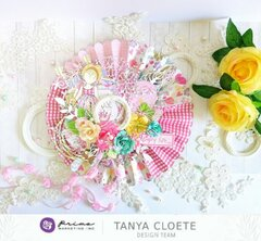 Prima Design Team 2020 - Butterfly Bliss 3D Accordion Fold Flower
