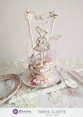 Prima Lavender Frost Teacup Bunny
