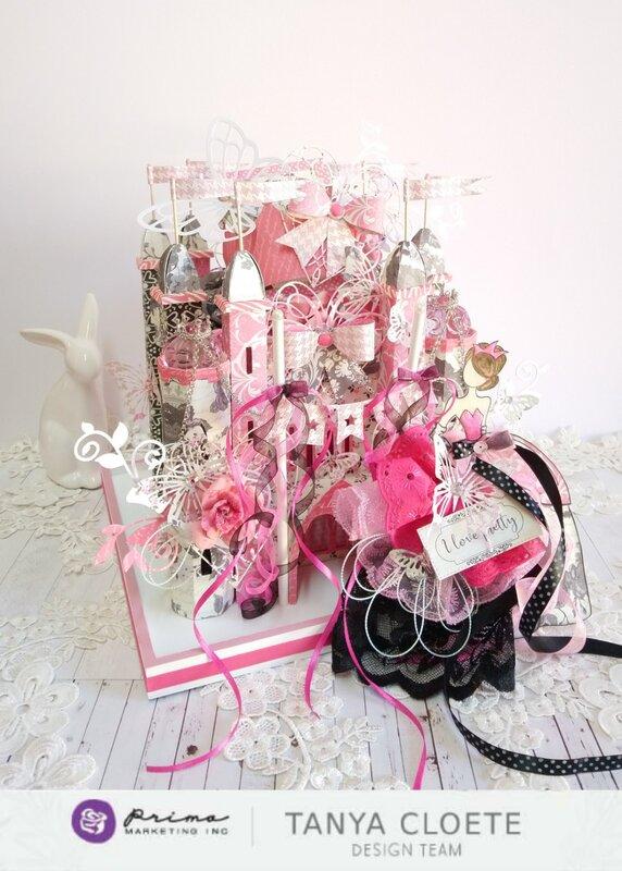 Prima Design Team 2018/2019 - Julie Nutting Line + Julie Nutting Doll Stamp Aurora Princess Castle