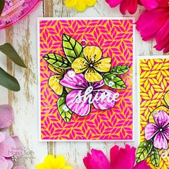 Flocked Background with stencil | ThermOweb