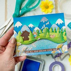 Sparkling Lake Card   Lawn Fawn
