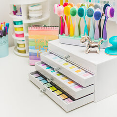 Inkpad drawer organizer makeover