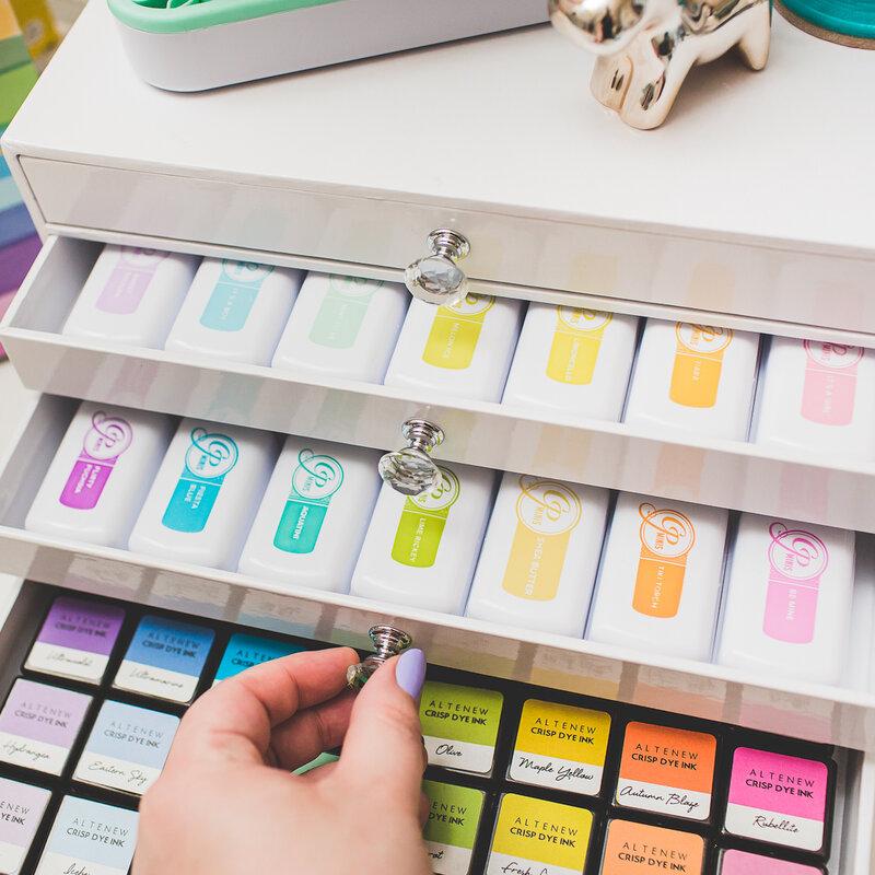 Inkpad drawer organizer makeover