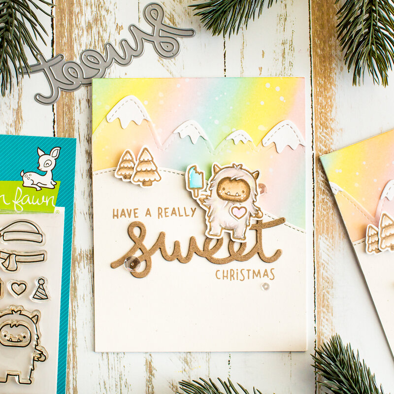 Clean and Simple Card tutorial with Lawn Fawn
