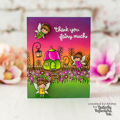 Thank you Fairy Much Lawn Fawn Card | Butterfly Reflections Ink