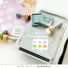 Label your supplies with Project Sticker Paper
