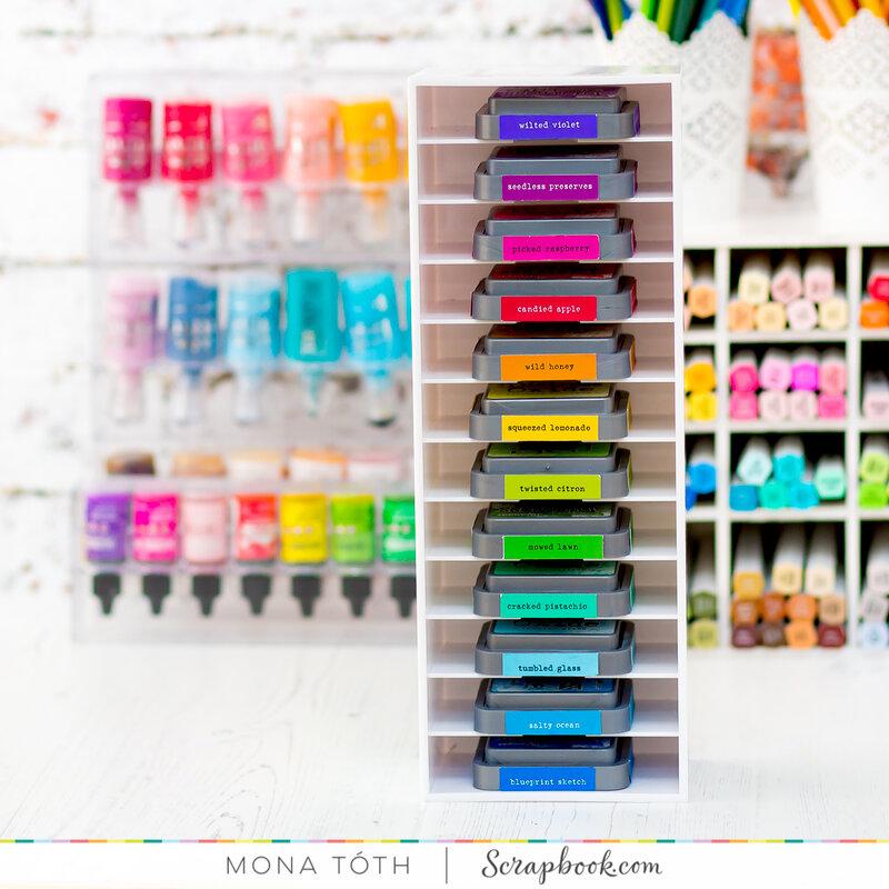 Ink pad organizer