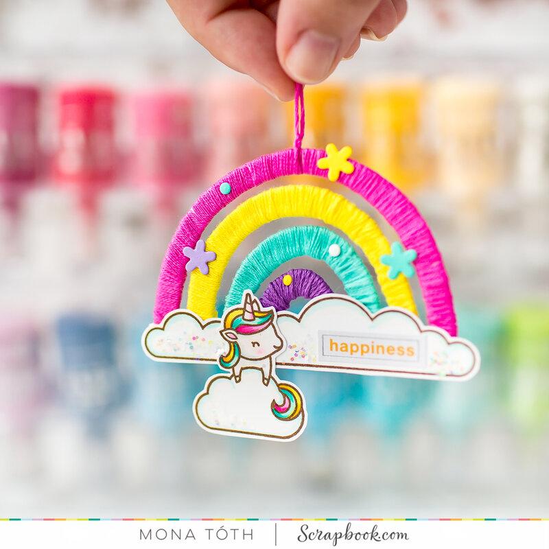 Cute rainbow tag