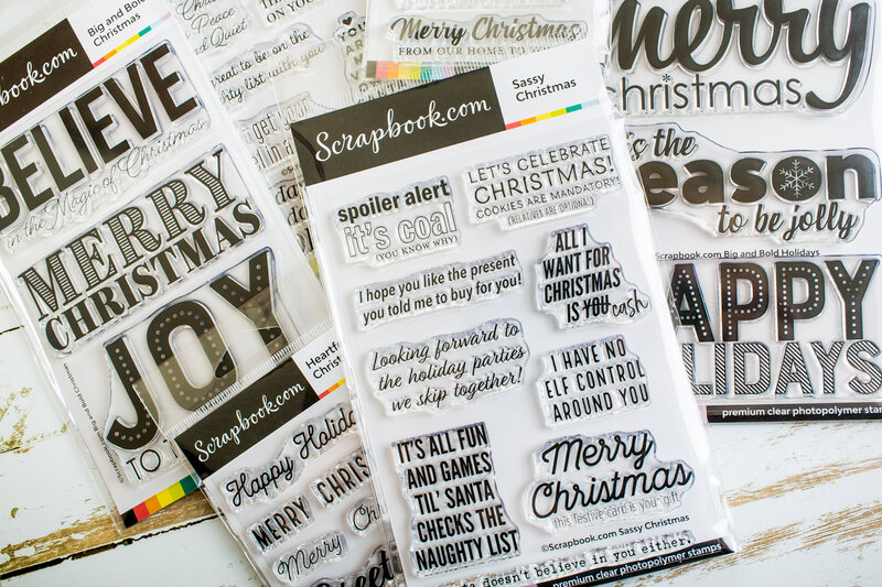 Must have Christmas sentiment stamps