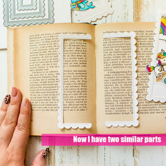 See through bookmarks with Lawn Fawn
