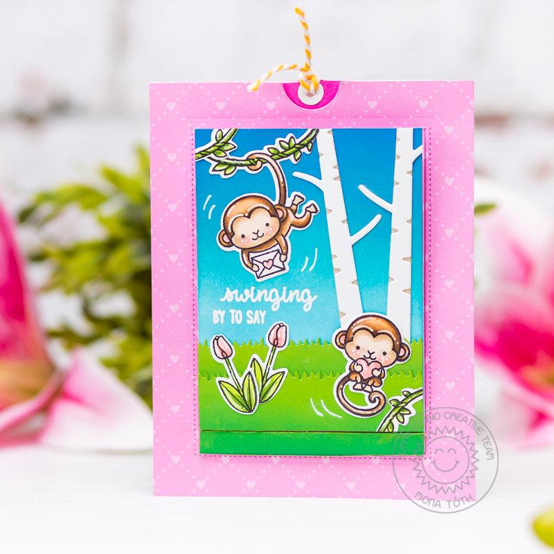 Love Monkey Interactive Card | Sunny Studio