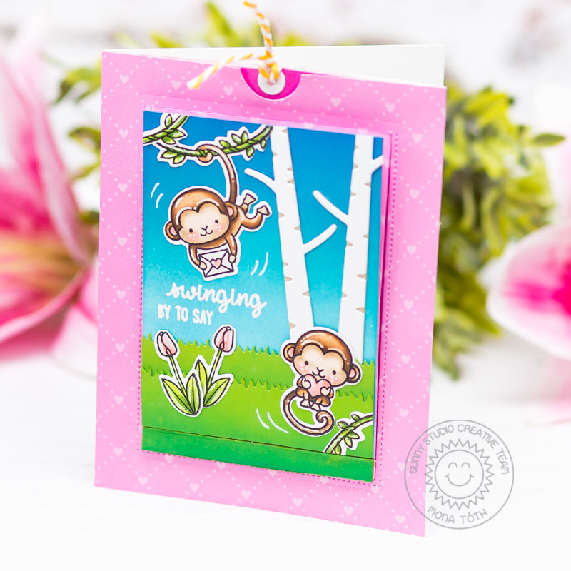 Love Monkey Interactive Card | Sunny Studio