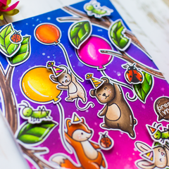 Light-up interactive card with Lawn Fawn