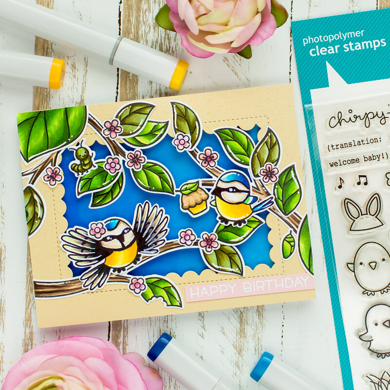 Stretch your bird stamp set | Lawn Fawn