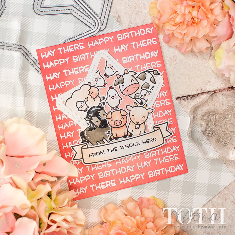 Hay There | Lawn Fawn Card