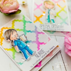 Thank you cards with Deco Foil Flock transfer sheets