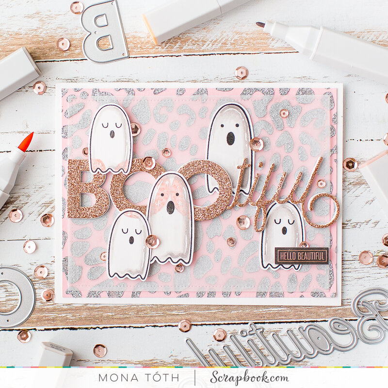 BOOtiful friend | Girly halloween card