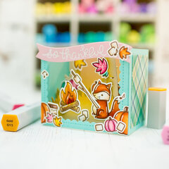 Foxy shadowbox card | Lawn Fawn