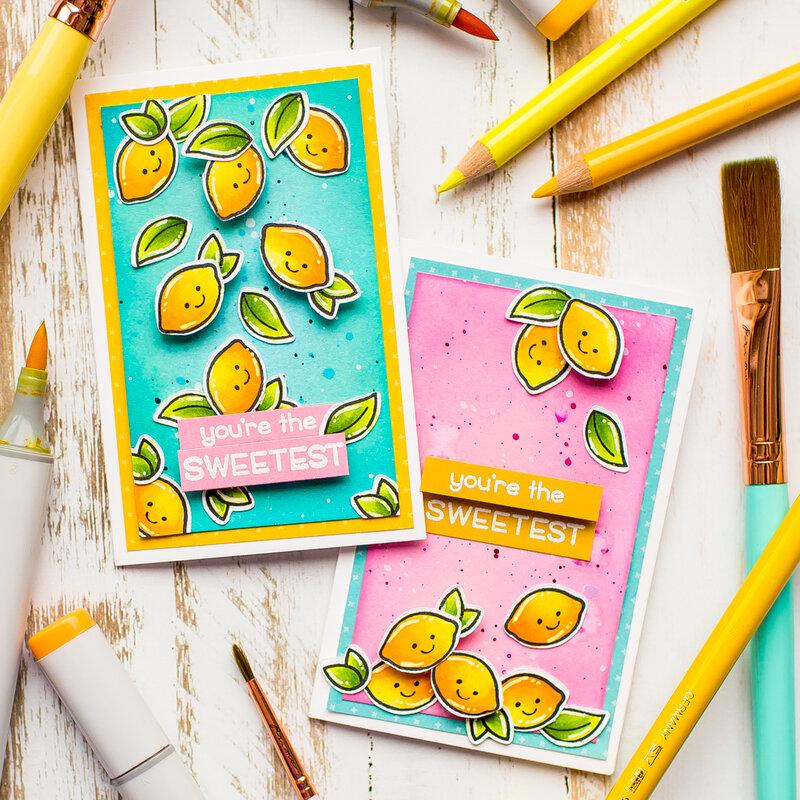 Mini Lemon Cards | Lawn Fawn