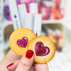 Biscuits with alcohol markers