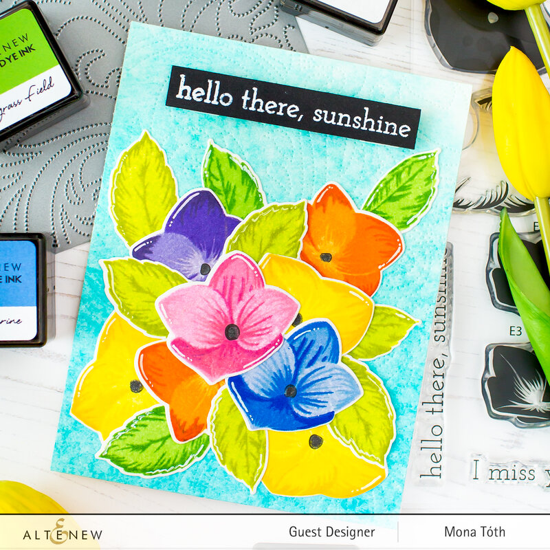 Stamp layered card | Altenew