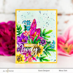 One layer floral card | Altenew