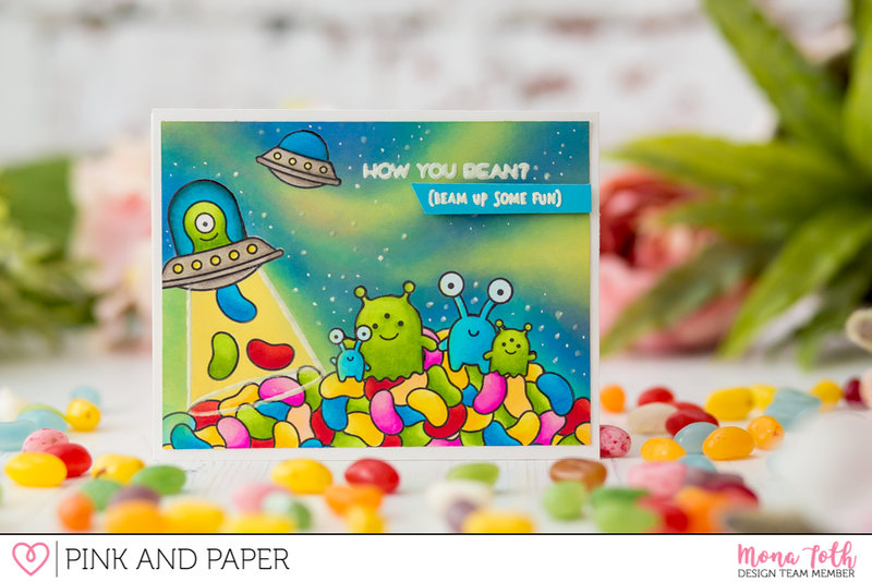 Beam Me Up Card | DT Pink and Papershop