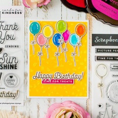 Birthday card with glittered confetti