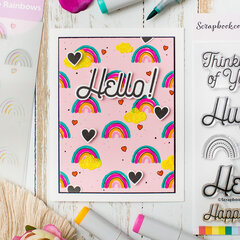 Hello! Coloring through Stencil