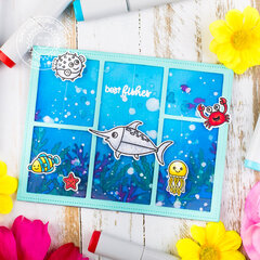 Interactive card | Best Fishes - Sunny Studio Stamps