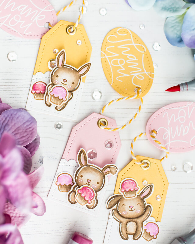 Cute bunny tags