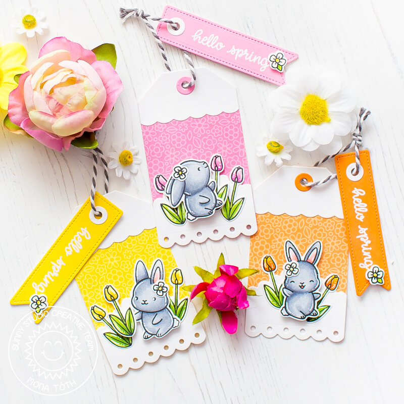 Sunny Studio Stamps | Chubby Bunny Tags