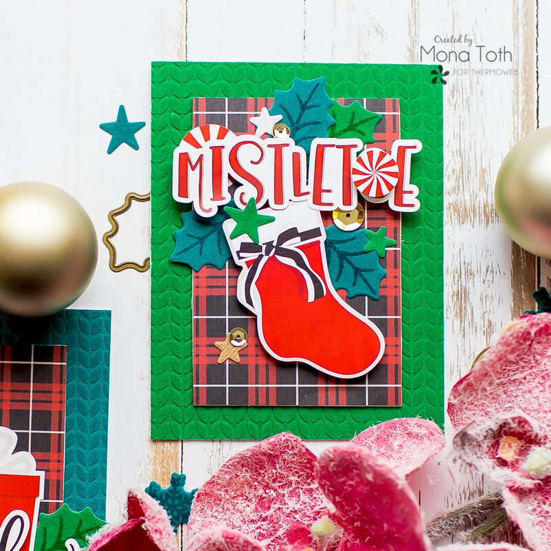 Holiday cards with Deco Foil Flock and Photoplay Paper | Thermoweb