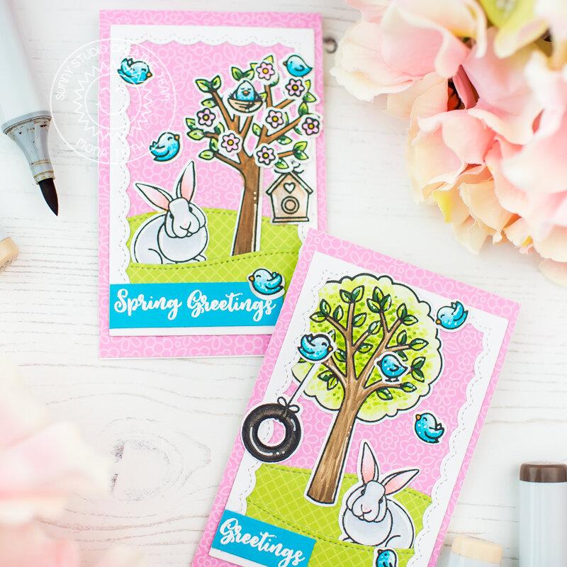 Mini cards | Sunny Studio Stamps