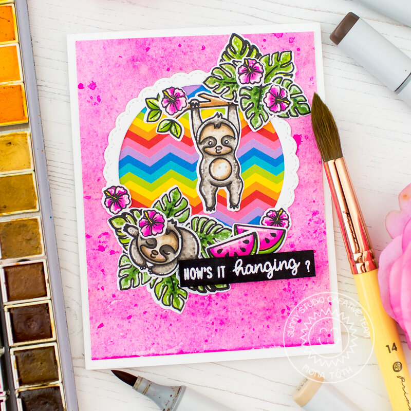Watercolor background | Sunny Studio Stamps