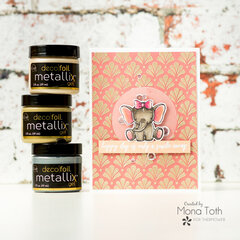 Easy cards with Deco Foil Gel Metallix | Thermoweb