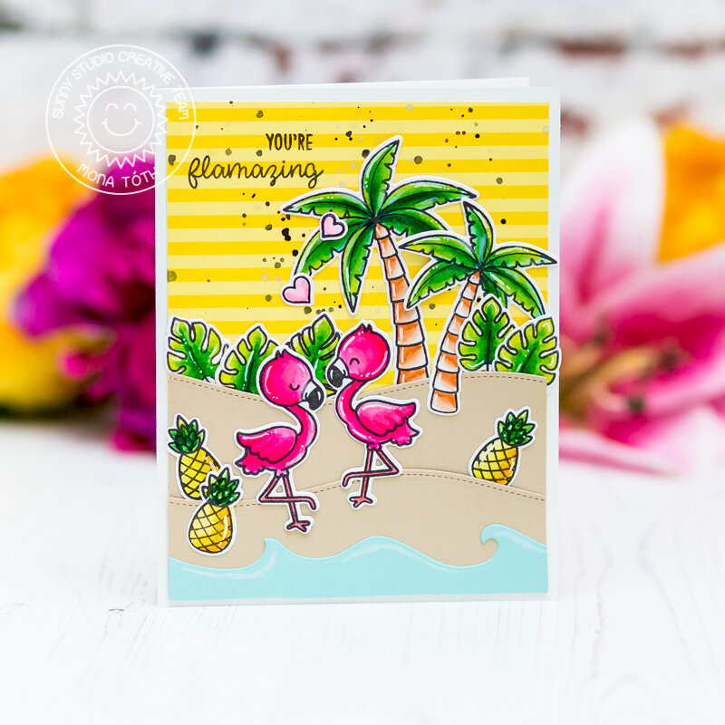 You are Flamazing | Sunny Studio Stamps