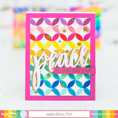 Stencil background techniques   Waffle Flower Crafts