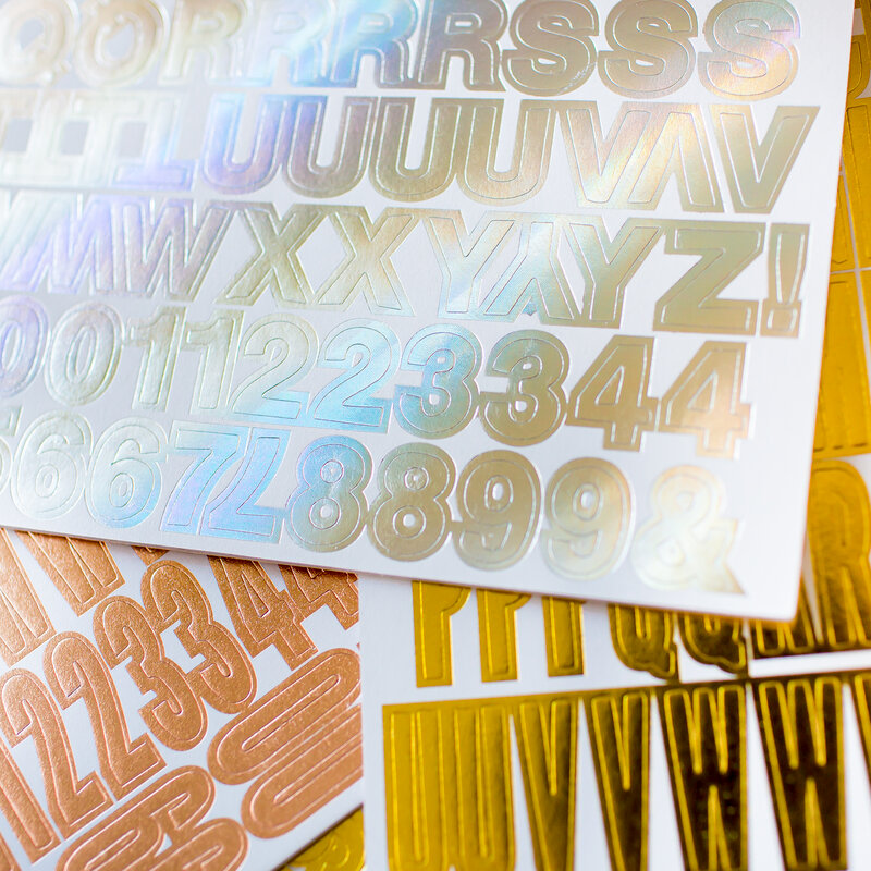 Sticker book | Foiled pages