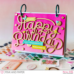 Pink Paislee Confetti Wishes - Birthday Calendar | Pink and Papershop