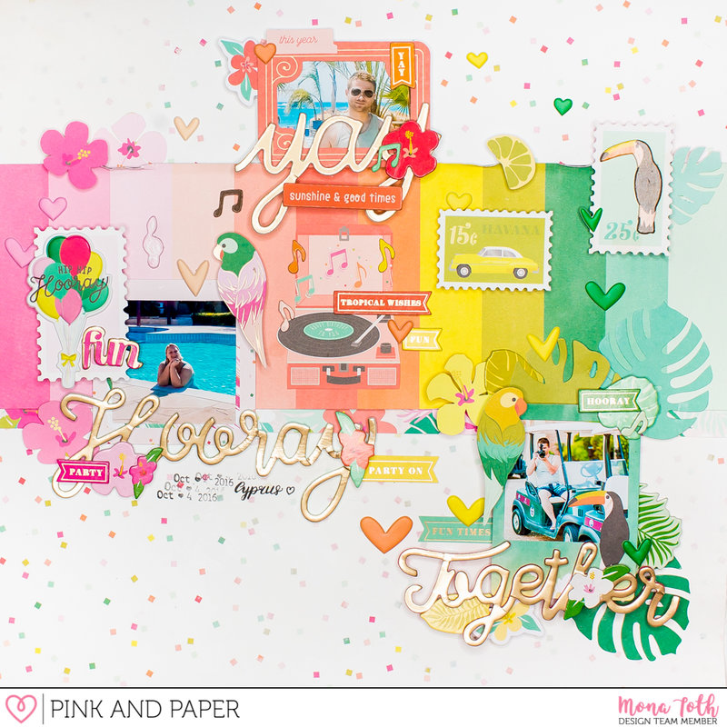 Pink Paislee - Confetti Wishes Layout