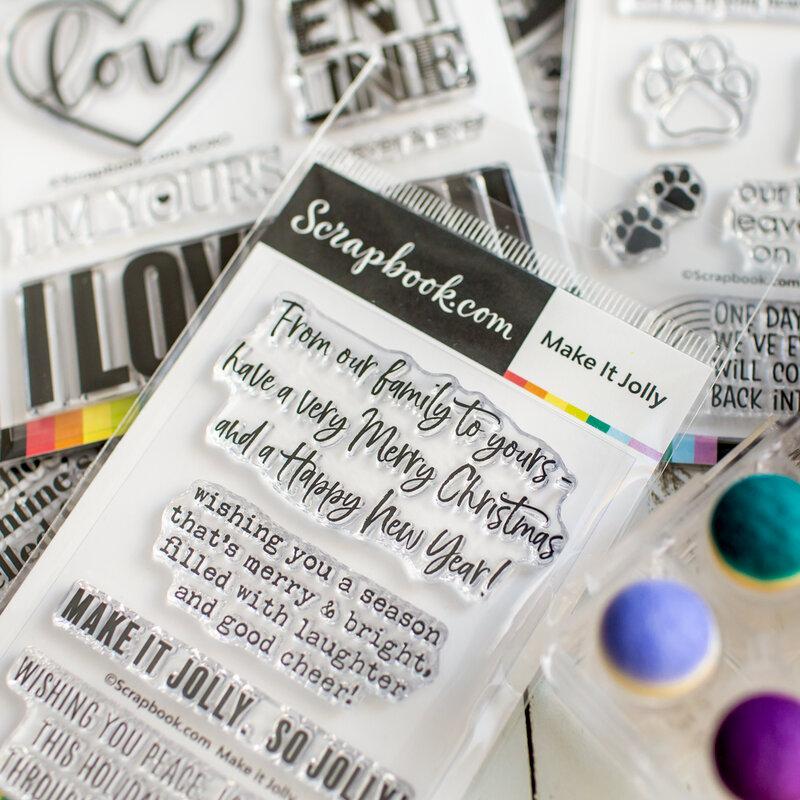 New sentiment stamps   Scrapbook.com