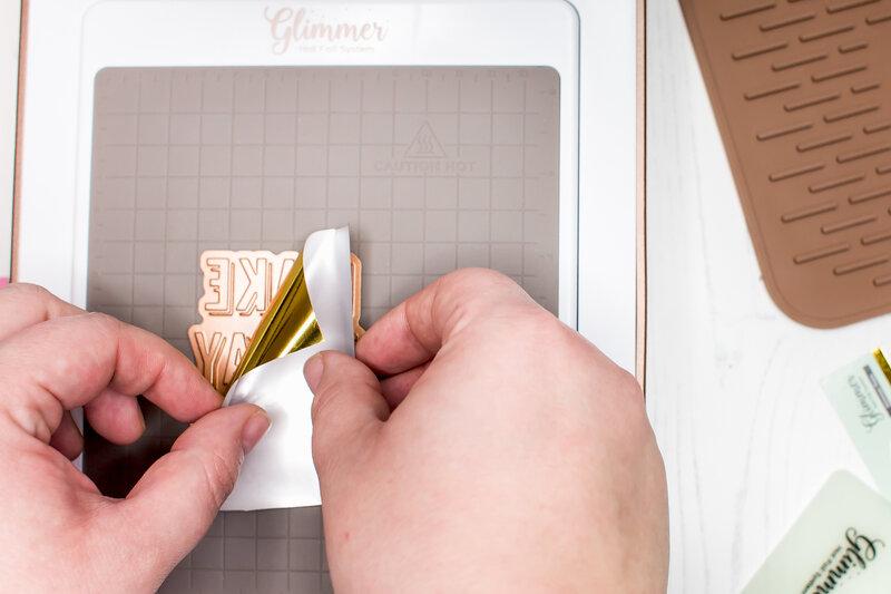 Glimmer Hot foiling techniques
