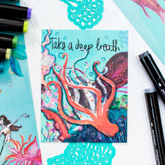 Take a Deep Breath Mixed Media Card | Spellbinders