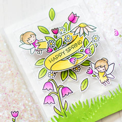 Happy Spring |Lawn Fawn Card