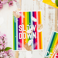 Velvet Touch Rainbow Cards   video tutorial