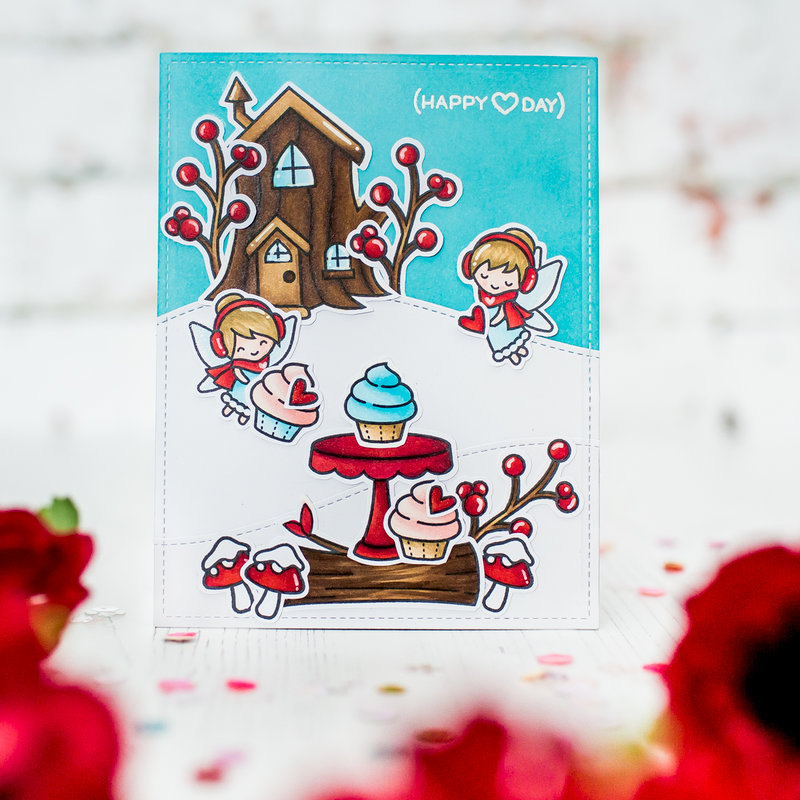 Frosty Fairy Friends Lawn Fawn Card