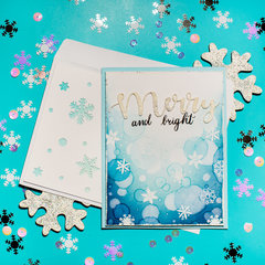 Bokeh effect christmas card