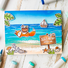 Summer card | Lawn Fawn